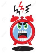 17032534-Ringing-alarm-clock-with-RED-EVIL-FACE-Screaming-on-the-dial-Stock-Vector